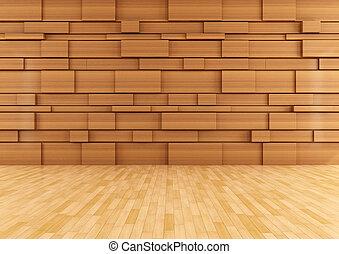 ξύλινος , δωμάτιο , αδειάζω