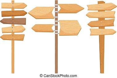 ξύλινος , κατεύθυνση , δρόμος , αναχωρώ
