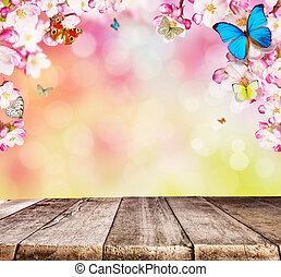 ξύλινος , κεράσι , πεταλούδες , επενδύω δι , άνθος