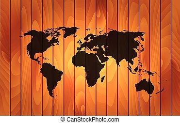 ξύλινος , κόσμοs , φόντο , χάρτηs