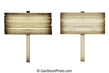ξύλινος , σήμα , απομονωμένος , επάνω , white., ξύλο , γριά , επενδύω δι , αναχωρώ.