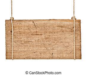 ξύλινος , σήμα , φόντο , μήνυμα , σκοινί , απαγχόνιση