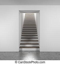 ξύλινος , σκάλα