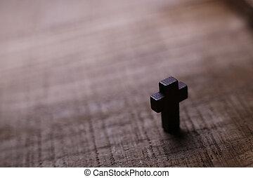 ξύλινος , σταυρός , φόντο