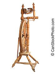 ξύλινος , τροχός , κλώθων