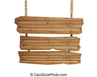 ξύλινος , board-isolated, 3d , σήμα
