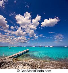 ξύλινος , formentera, μεσογειακός , τροπικός , θάλασσα , ...