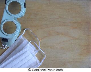 ξύλινος , retro , μάσκα , γυαλιά , φόντο