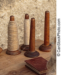 ξύλινος , spindles, καρούλι , τραπέζι