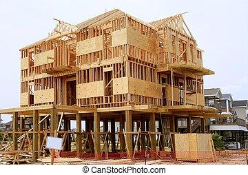 ξύλο , σπίτι , contruction, αμερικανός , άγαρμπος διάρθρωση
