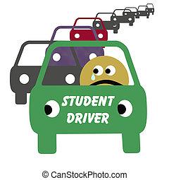 οδηγός , σπουδαστής , εικόνα