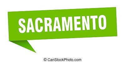 οδοδείκτης , πράσινο , sticker., sacramento , σήμα , δείκτης...