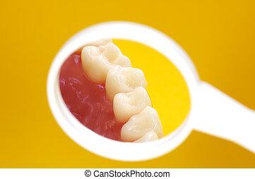 οδοντίατρος , καθρέφτηs