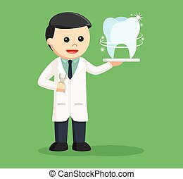 οδοντίατρος , λαμπερός , δόντι