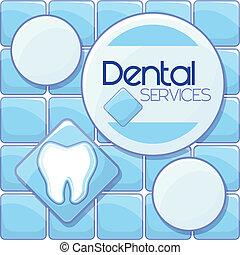 οδοντιατρικός , ακολουθία , φόντο