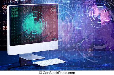 οθόνη , γενική ιδέα , ηλεκτρονικός υπολογιστής , επιχείρηση