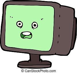 οθόνη , ηλεκτρονικός υπολογιστής , γελοιογραφία