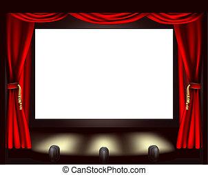οθόνη , κινηματογράφοs