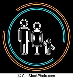 οικογένεια , άνθρωποι , παιδί , πατέραs , περίγραμμα , μητέρα , εικόνα