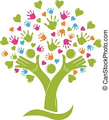 οικογένεια , ανάμιξη , δέντρο , άγαλμα , αγάπη , ο ενσαρκώμενος λόγος του θεού