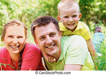 οικογένεια , αναμμένος άδεια