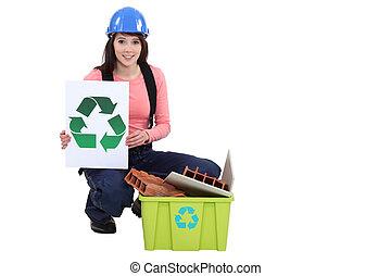 οικοδόμος , ανακύκλωση , απτός