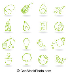 οικολογία , και , περιβάλλον , σύμβολο