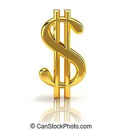 οικονομικός , δραστηριότητες , σήμα , δολάριο , απομονωμένος...