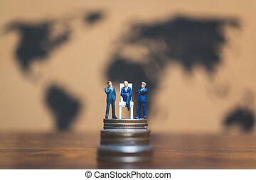 οικονομικός επιτυχία , επιχείρηση , χρήματα , concept., μινιατούρα , επινοώ , επιχειρηματίας , θημωνιά , people: