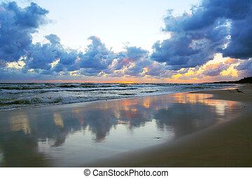 οκεανόs , ηλιοβασίλεμα