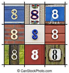 οκτώ , αριθμοί
