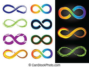 οκτώ , διαφορετικός , σύμβολο , άπειρο