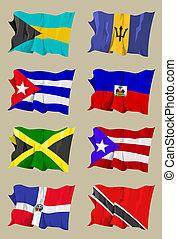 οκτώ , caribbean , σημαίες