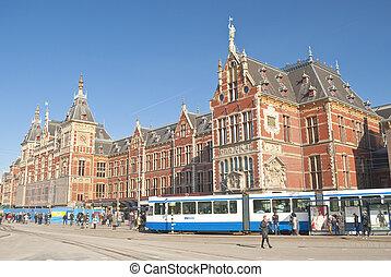 ολλανδία , βαδίζω , ολλανδία , 25 , γεμάτος , βαδίζω , άνθρωποι , - , 25:, τρένο , amsterdam , θέση , 2008, κύρια