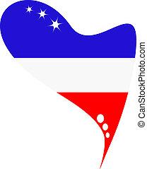 ολλανδία , σημαία , μέσα , καρδιά