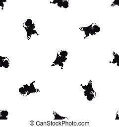 ολλανδία , χάρτηs , πρότυπο , seamless, μαύρο