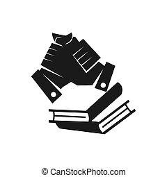 ομαδική εργασία , δέσμευση , μαζί , βιβλίο , μαύρο , ο ενσαρκώμενος λόγος του θεού