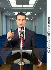ομιλητήσ, υφηγητής