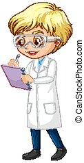 ομοειδής , αγόρι , γράψιμο , επιστήμη , αγαθός φόντο