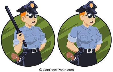ομοειδής , αυτήν , αστυνομεύω κλομπ , ανάμιξη. , γυναίκα , αξιωματικός