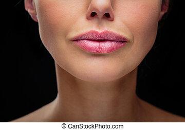 ομορφιά , μοντέλο , - , χείλια , πορτραίτο , γυναίκα , detail/close-up, όμορφος