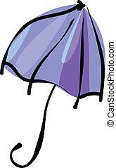 ομπρέλα , απομονωμένος , αναμμένος αγαθός