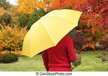 ομπρέλα , κίτρινο , άντραs