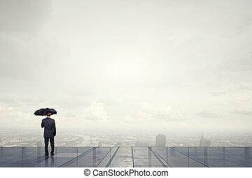 ομπρέλα , μαύρο ανήρ