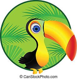 οπωροφάγο πτηνό με μέγα ράμφο , γελοιογραφία