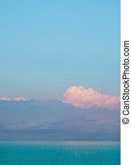 ορίζοντας , sky., ανατολή , skyline., γενική ιδέα , φύση , θαλασσογραφία , θάλασσα , φόντο. , μπλε