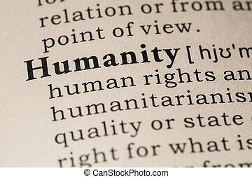 ορισμός , ανθρωπότητα
