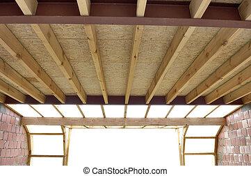οροφή , ανάδεμα , σε , ένα , σπίτι