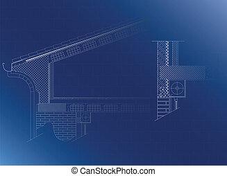 οροφή , αρχιτεκτονικός αναφέρω ένα προς ένα
