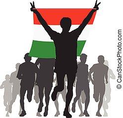 ουγγαρία , αθλητής , σημαία